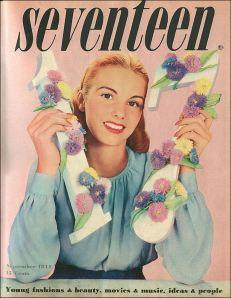 http://seventeenmagazinevintage.blogspot.com/2009/11/1944-seventeen-magazine-premiere-issue.html